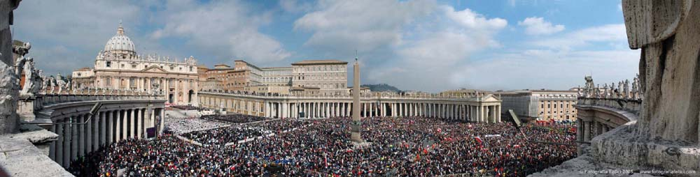St Peter's Basilica and Square - John Paul II Funeral