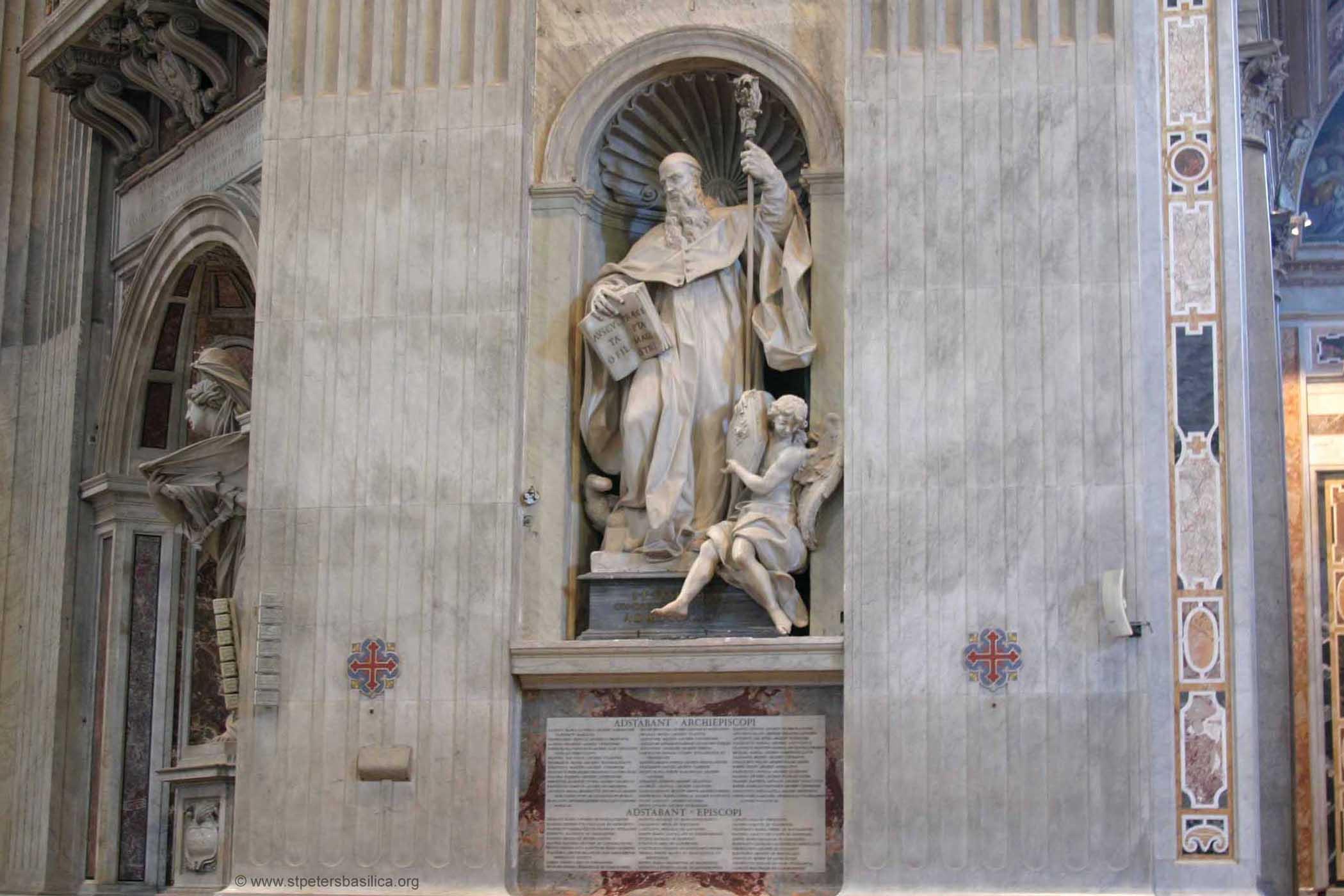 St Benedict Founder Statue